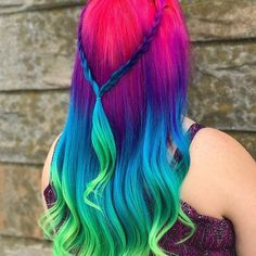 @hairby_milly_mermaid is the artist... Pulp Riot is the paint.