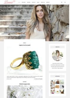 Luana - Responsive Wordpress Theme by alphawd on @creativemarket