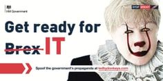 Brexit the horror film: billboards mock government's 'get ready' campaign