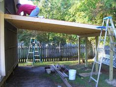 Simple and Modern Tips and Tricks: Woodworking Workbench Articles woodworking bookshelf spaces.Woodworking Ideas Birdhouses old wood working tools. Lean To Carport, Building A Carport, Lean To Roof, Carport Plans, Carport Garage, Workbench Plans, Woodworking Workbench, Woodworking Workshop, Shed Plans
