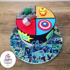 Little cake sisters - enfants - salles birthday в 2019 г. Birthday Cakes For Men, Avengers Birthday Cakes, Superhero Birthday Party, Star Wars Birthday, Cakes For Boys, Cake Birthday, 20th Birthday, Princess Birthday, Pastel Iron Man