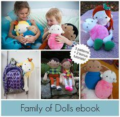 Family of Dolls Ebook - via @Craftsy