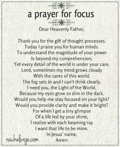 Prayer. …