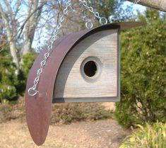 BIRDHOUSE MODERNE | Maison d'oiseau unique | Nichoirs en plein air