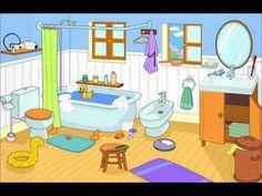 "TOUCH esta imagen: Remix of ""La salle de bains"" by sarah Spanish Vocabulary, Vocabulary Activities, Preschool Activities, French Lessons, Spanish Lessons, English Lessons, French Classroom, Spanish Classroom, Spanish Teaching Resources"