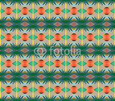 Grass and orange rhombus texture