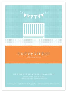 Hello baby modern baby shower invitation design shower baby shower invite phillips barton paz furtado i can probably get something like this replicated really easy in the colors we want filmwisefo Images