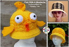 Ravelry: Fish with a Mustache Sunhat pattern by Heidi Yates