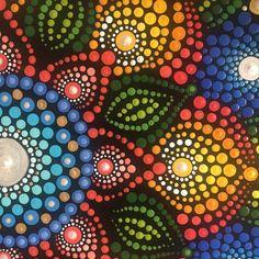 Original handpainted dot mandala x canvas - Pearl sunburst Mandala Painted Rocks, Mandala Rocks, Dot Art Painting, Stone Painting, Mandala Design, Mandala Canvas, Mandalas Painting, Mosaic Wall Art, Stone Art