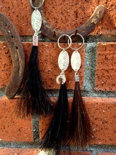 Genuine Horsehair Key Ring Horse Tassel or Backpack by JaxSnacks, $24.00