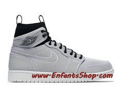 sale retailer 1af01 41b41 Air Jordan 1 Ultra High Chaussures Nike Basket Pas Cher Pour Homme Gris Noir  844700-