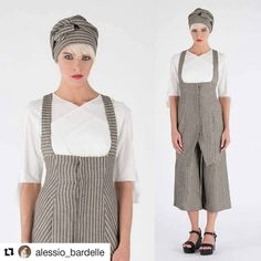#Striped #scarves 4 a #perfect #headwrap + #poplin #shirt + #striped #vest = # #Summer #AlessioBardelle #SS17