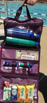 The Timeless Beauty Bag is great for storing sunscreen and treats for a day at the pool!
