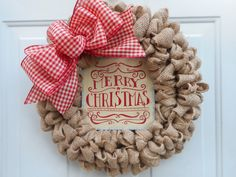 Hey, I found this really awesome Etsy listing at https://www.etsy.com/listing/252200658/christmas-burlap-wreath-country-wreath