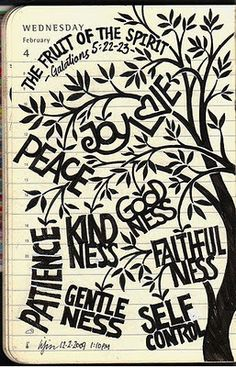 Fruits of the Spirit.  I would love a print of this for my desk at work.
