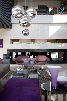 Magical purple interiors. Modern example.