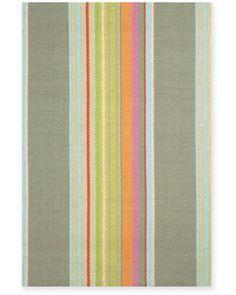 Cottage Stripe Cotton Rug Collection by Dash & Albert Kitchen rug