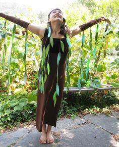 Trauerweide Baum Kostüm Erwachsene Größe Xs an von SnippetFairy