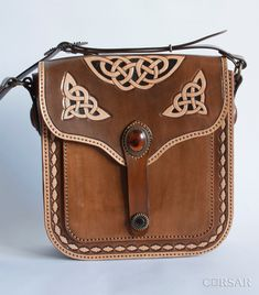 """Women bag """"Celtic knot"""" by CorsarLeather on Etsy"""