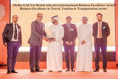 #Thriftyuae Car Rental wins International Business Excellence Awards! #IBX #Business excellence in Travel, Tourism & Transportation sector