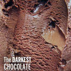 The Darkest Chocolate Ice Cream In The World