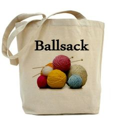 Yarn Tote Bag--I will learn to knit or crochet just to get this bag!!