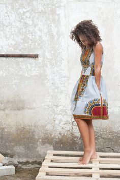 African dress Addis Abeba by KOKOworld on Etsy