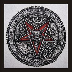 Pentagram Art | Hell Skulls