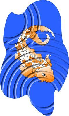 Koi Fish - Digital