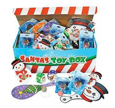 Santa's Toy Box Assortment. No holiday celebration is complete without this festive collection of toys in a cardboard treasure chest! With puzzle games, bouncing balls and other yuletide goodies, this playful assortment makes fun prizes for a classroom Christmas party. (50 pcs. per unit)... more details available at https://perfect-gifts.bestselleroutlets.com/gifts-for-holidays/home-kitchen/product-review-for-santas-toys-novelty-prize-box-assortment-includes-holiday-them
