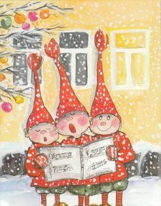 Virpi Pekkala Amaretti Cookies, Christmas Cards, Xmas, Fantasy Artwork, Whimsical Art, Gnomes, Thank You Cards, Illustrators, Advent