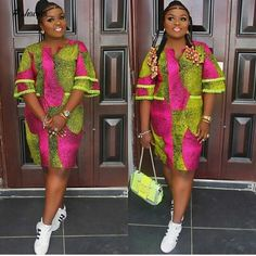 The complete pictures of latest ankara short gown styles of 2018 you've been searching for. These short ankara gown styles of 2018 are beautiful Ankara Short Gown, Short African Dresses, Ankara Gowns, Short Gowns, Latest African Fashion Dresses, African Print Dresses, African Print Fashion, Ankara Fashion, Ankara Dress