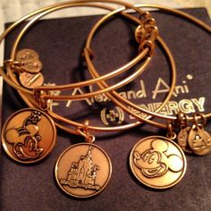 Disney bangles! Sold exclusively at #WaltDisneyWorld in select gift shops! #PositiveEnergy
