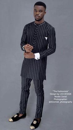 Leo Designs African Dresses Men, African Shirts, African Attire, African Wear, Nigerian Men Fashion, African Men Fashion, Mens Fashion, Fashion Trends, New Start