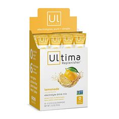 Amazon.com: Ultima Replenisher Electrolyte Hydration Powder, Lemonade, 30 Serving Canister - Sugar Free, 0 Calories, 0 Carbs - Gluten-Free, Keto, Non-GMO with Magnesium, Potassium, Calcium, 3.7 Ounce (Pack of 1): Health & Personal Care Nuun Hydration, Electrolyte Drink, Keto Shakes, Mixed Drinks, Stevia, Lemonade, Sugar Free, Pure Products, Powder