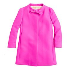 Hot pink Girls' Wool-Cashmere Bow Coat by J. Crew