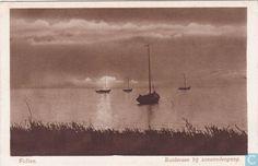 Ansichtkaarten - Putten - Putten. Zuiderzee bij zonsondergang.