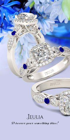 Jeulia Vintage Halo Asscher Cut Created White Sapphire Engagement Ring #Jeulia