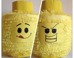 Lego Head Pinata Handcrafted Custom