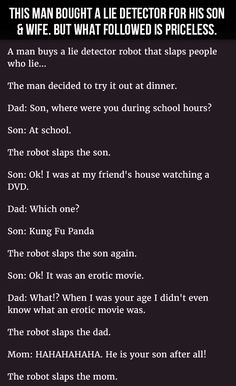 This #Man Bought A #LieDetector For His #Son & #Wife. But What Followed Is Priceless. #LOL #Hilarious