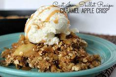 Cast Iron Skillet Recipe: Caramel Apple Crisp