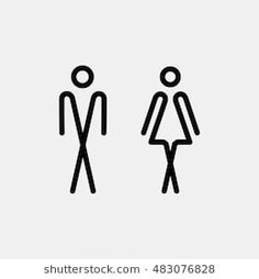 Wc toilet bowl icon man, lady toilet toilet dish-similar images, 395135944 Toilet Signage, Toilet Door Sign, Door Wall, Wayfinding Signage, Signage Design, Wc Icon, Wc Design, Door Letters, Hotel Room Design