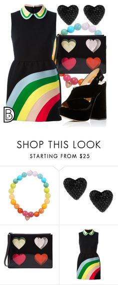 """""""Orlando Strong"""" by leslieakay ❤ liked on Polyvore featuring Sydney Evan, Betsey Johnson, Christopher Kane, RED Valentino and Charlotte Olympia"""