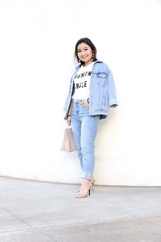 Women Rule @ Elizabeth, Marie, and Me Stuart Weitzman, Rose Gold Heels, Forever 21, All About Fashion, Outfit Posts, Casual Chic, Jeans, Plus Size Women, Outfit Of The Day
