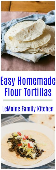 These Easy Homemade Flour Tortillas are LIFE CHANGING!There are just 5 ingredients in these tender tortillas. Homemade Flour Tortillas, Cinnamon French Toast, Mexican Food Recipes, Ethnic Recipes, Slow Cooker Pork, Family Kitchen, Vegetarian Cooking, Kitchen Recipes, Original Recipe