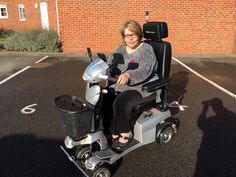 Mrs Ravenhill chose the Vitess 2  mobility scooter find the model that suits you here http://contact.quingoscooters.com/social-mobility-scooters