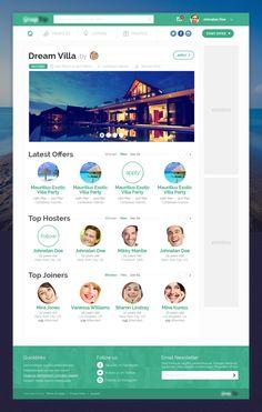 Travel Webapp - Client Work by Leonard Latescu, via Behance