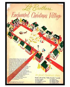 Lit Brothers Christmas Village, Philadelphia, PA.....one of my favorite things as a child.