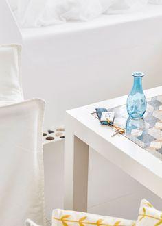 We welcome you to Amare Mykonos Homes Studios Residences. Garden Sea View, Mykonos Island Greece, Shops, Home Studio, Coastal Style, Sweet Home, Bedroom, Table, Home Decor