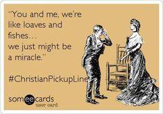 Christian pick up lines Church Memes, Church Humor, Church Signs, Funny Christian Memes, Christian Humor, Christian Cards, Funny Pick, You Funny, Hilarious